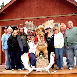Prosics in Alaska by Jim Dicken - People Family ( funny moose, camp funny moose, prosics of new jersey, prosic family )