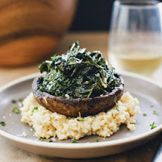 Creamy Millet with Roasted Portobellos