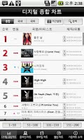 Screenshot of gaon chart