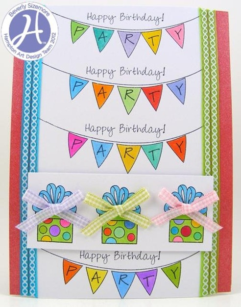 HA May Project Two Birthday Banners Card