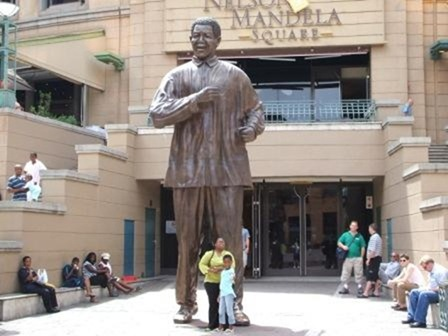The Statue of Nelson Mandela at Nelson Mandea Square
