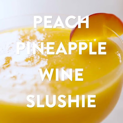 Spruce up your Saturday night in with our Peach Pineapple Wine Slushies