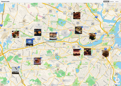 Map of Mostly Food Photos