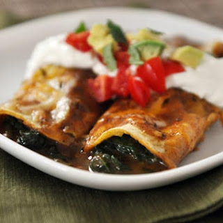 Spinach and Cheese Enchiladas.
