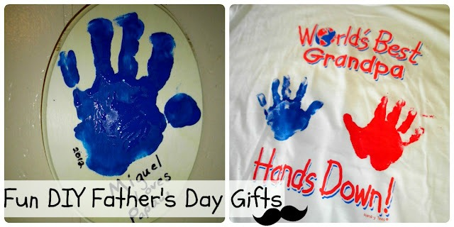 FATHERs kid's gift idea handprints