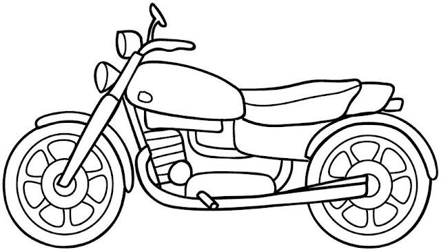 DIBUJOS PARA COLOREAR MOTOS