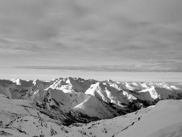 French Alps mountains ski snow