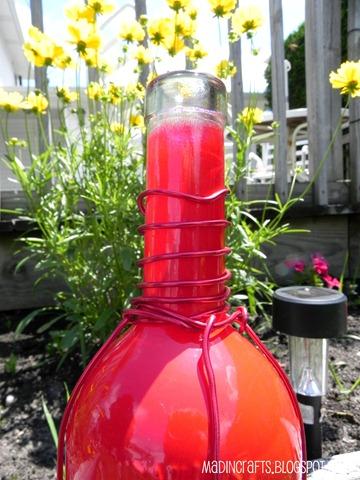 wrap wire around wine bottle