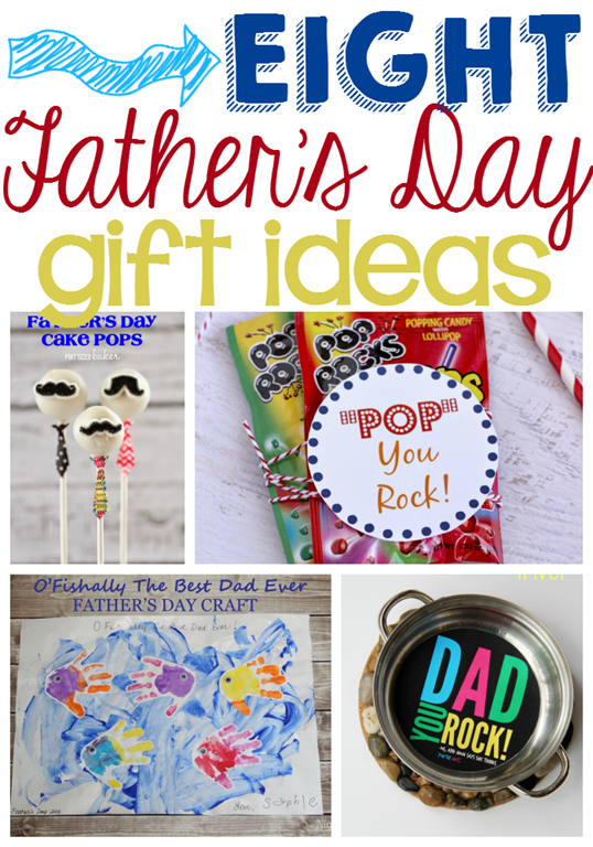 Eight Father's Day Gift Ideas at GingerSnapCrafts.com #linkparty #features #fathersday