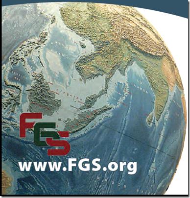在FGS 2013会议小册子的封面上的地球