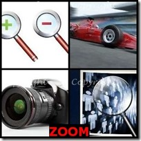 ZOOM- 4 Pics 1 Word Answers 3 Letters