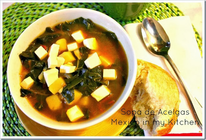 Swiss Chard and Potato Soup | Authentic Mexican Food Recipes