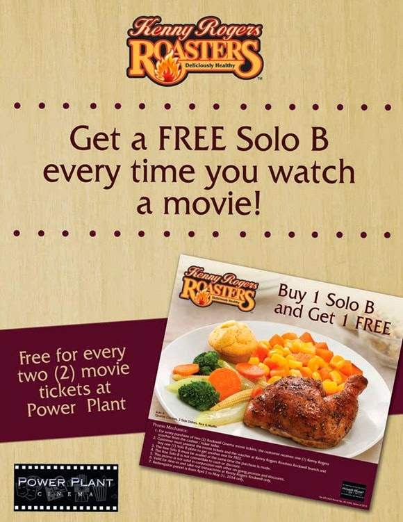 Buy 1 Get 1 At Kenny Rogers Roasters Ednything