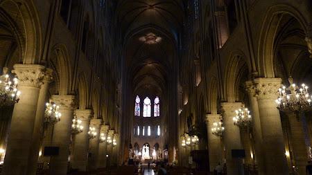 Biserici Franta: Notre Dame Paris interior