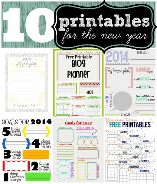 10 printables for the new year #newyear #organizing #printable