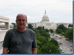 1562 Washington, D.C. - Newseum - Pennsylvania Avenue Terrace - Bill with U.S. Capitol Building in background