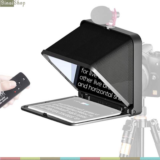 Lensgo Teleprompter TC7 (Black) - Máy Nhắc Chữ Mini