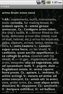 Verba-Android Latin Dictionary- screenshot thumbnail
