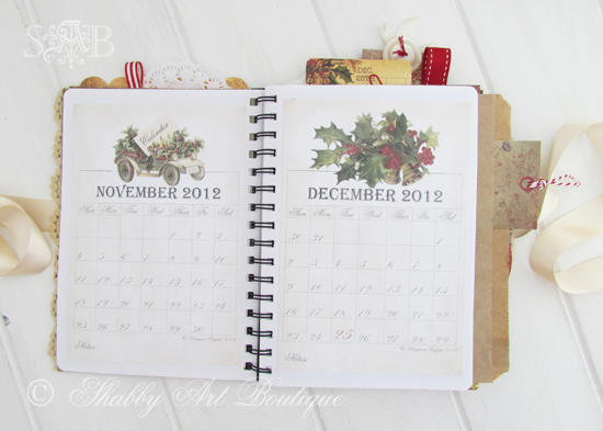Shabby Art Boutique Christmas Planner 2