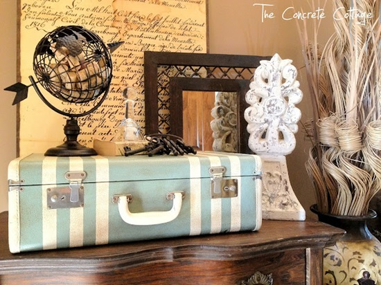 Painted Vintage Suitcase 2