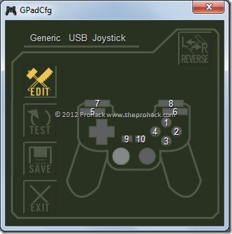 open gpadcfg and configure your controller for dmc3se