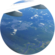 Avistando a Amazônia pelo avião