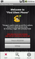 Screenshot of Find My Phone via SMS