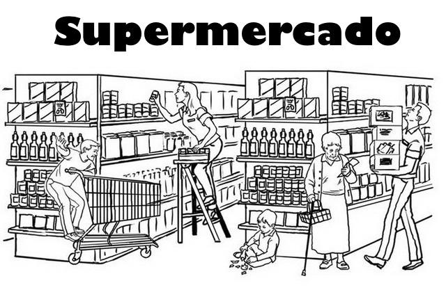 Dibujos Del Supermercado Para Pintar