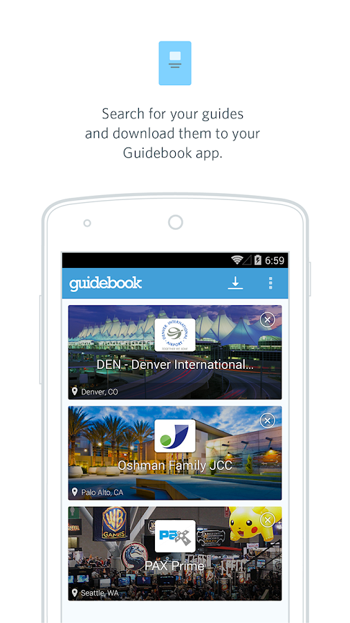 Guidebook - screenshot