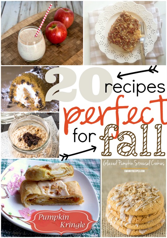 20 Recipes Perfect for Fall #fall #recipes GingerSnapCrafts.com