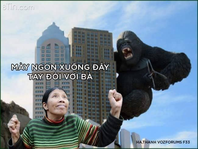 Kingkong đến nhà đàn bà cũng đánh