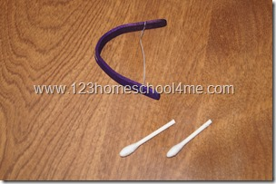 Craft stick and cott swab bow and arrow medieval kid activity