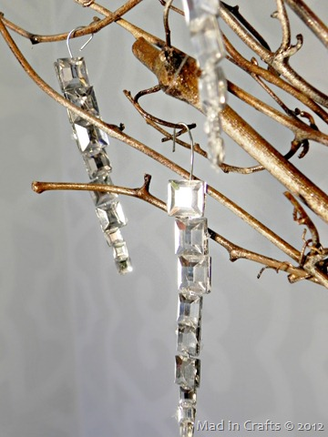 jewel icicle ornaments