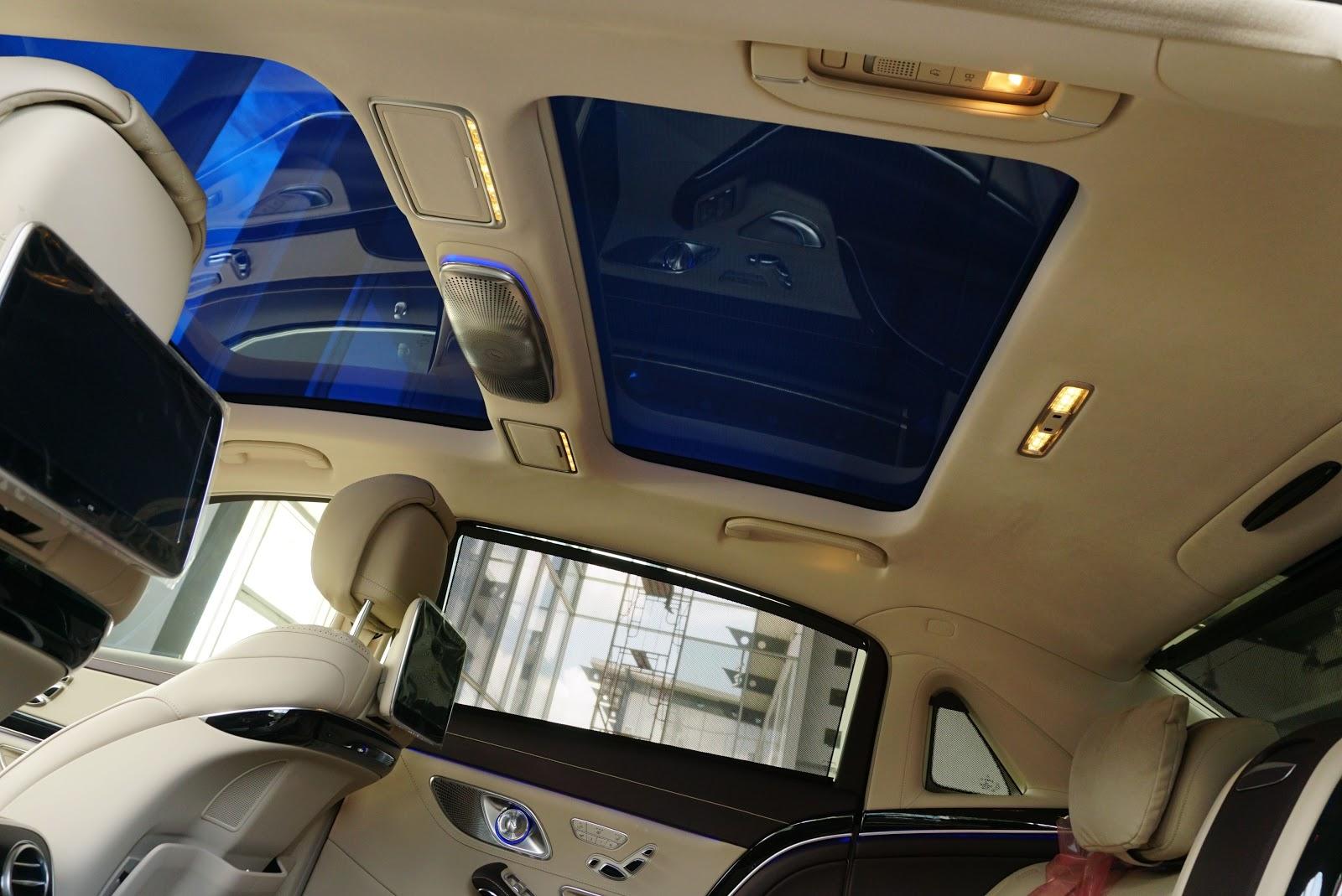 Nội Thất Xe Mercedes Benz S600 MAYBACH Màu Đen 09