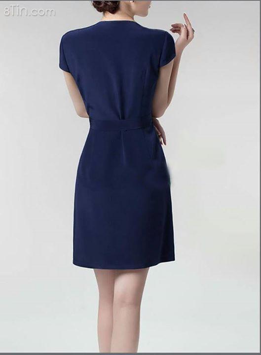 Đầm Suông Xanh Navy Thời Trang.