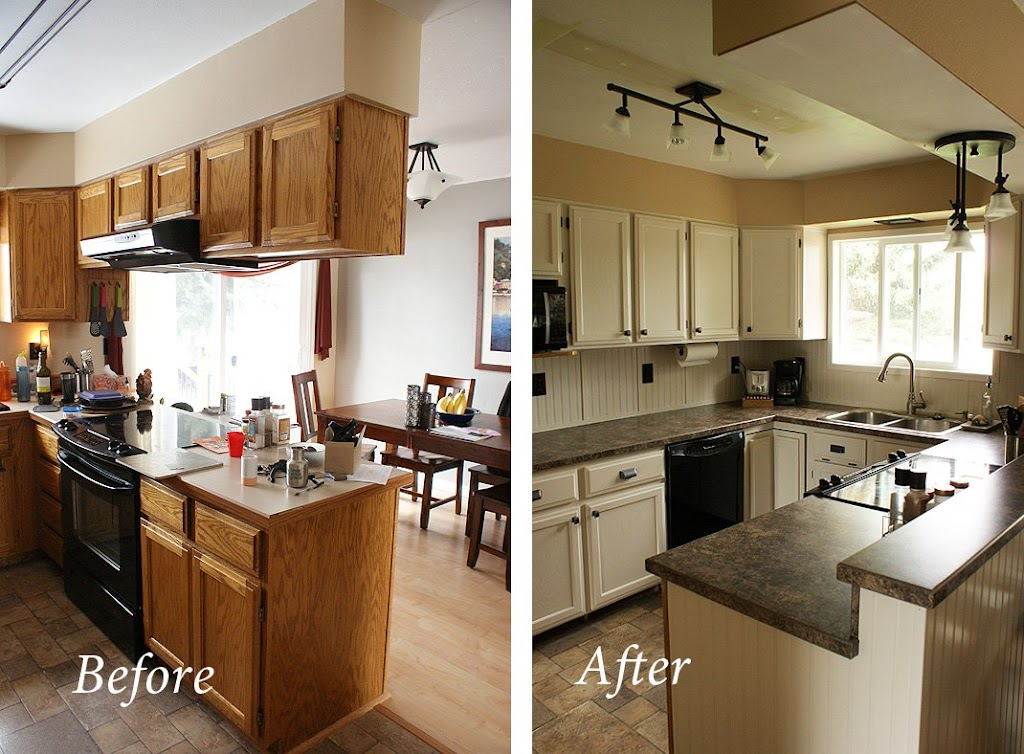 Before And After Kitchen Remodels On A Budget: My Cheap, DIY Kitchen Remodel