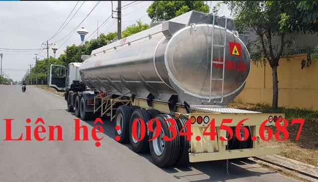 Xe bồn xitec nhôm 43 khối chở xăng dầu