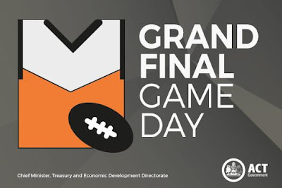 Dont miss the AFL Grand Final on Saturday in Canberras Civic Square