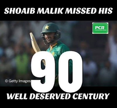 Shoaib Malik played a brilliant knock today but unluckily cant finish his hundred