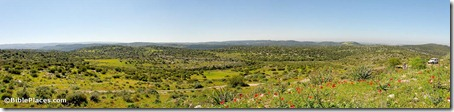 Shephelah view southwest from Jarmuth panorama, tb030407652