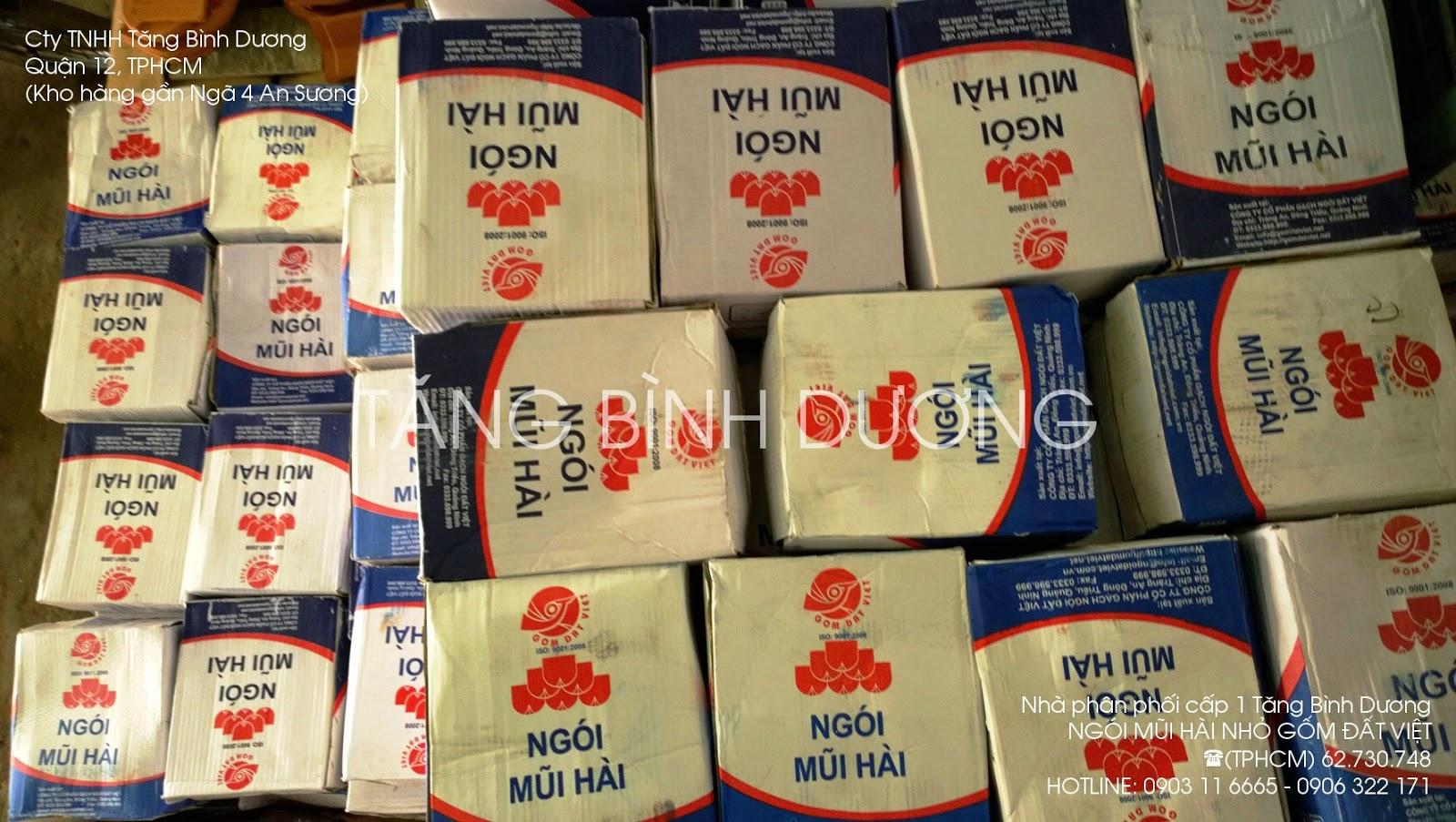 Ngói mũi hài Gốm Đất Việt trong kho hàng