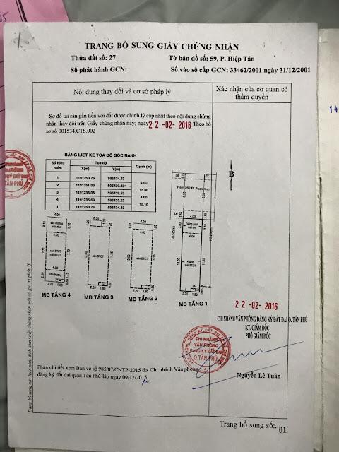 Bán Nhà Chính Chủ Đường Phan Anh Quận Tân Phú, diện tích 4mx16m, 4 lầu, giá 6,6 tỷ.2