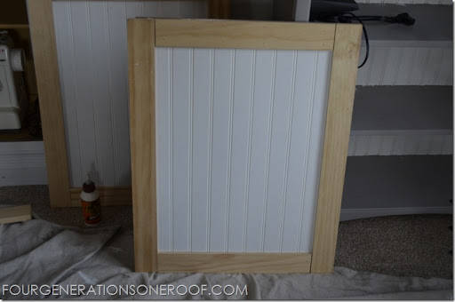 DIY built-in barn doors {tutorial} - Four Generations One Roof