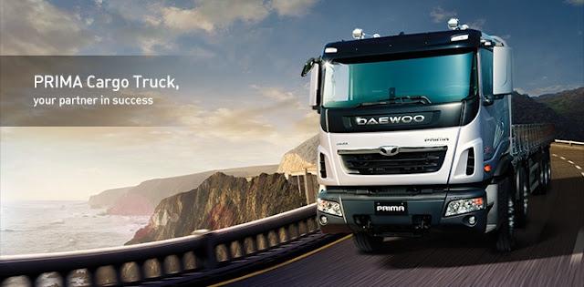 Xe tải 15,5 tấn Daewoo 3 chân thùng kín