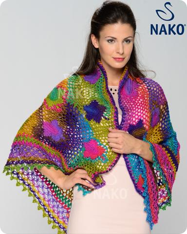 chal multicolor de crochet patron1