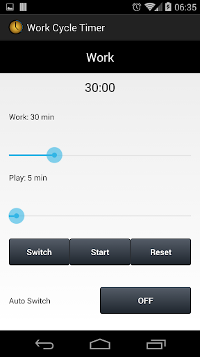 Work Cycle Timer