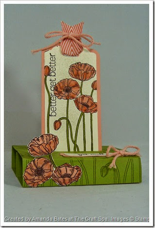 Pleasant Poppies,Tag Punch Freestanding Pop Up Card,Amanda Bates at The Craft Spa