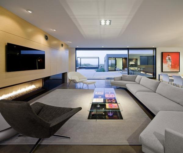 Casa Levin Diseno Minimalista Arquitectos Ibarra Rosano Arizona - Salones-diseo-minimalista