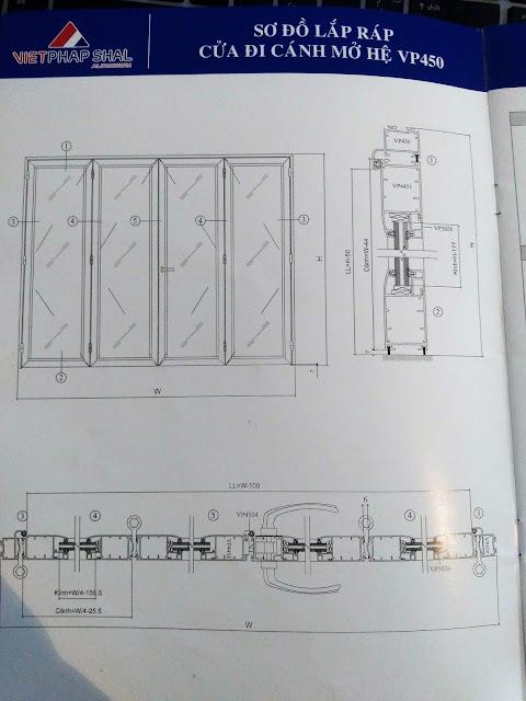 Kết cấu cửa mở quay hệ 450-3
