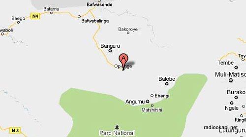 carte de Opienge, province orientale
